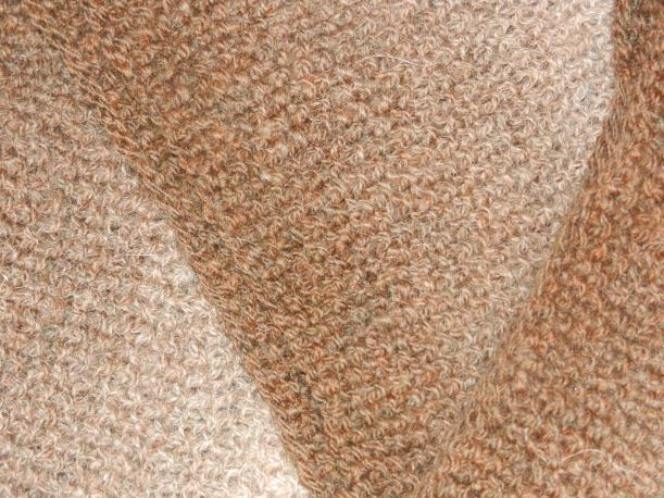 Close up of Corey's scarf