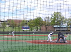 Gallaudet teammie up to bat.