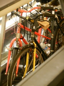 Bikes on Caltrain. Going home.
