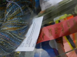 Handspun skein second prize San Mateo County Fair