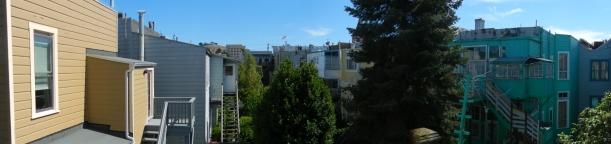 backyard, top floors