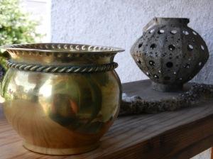 brass pot for mordanting