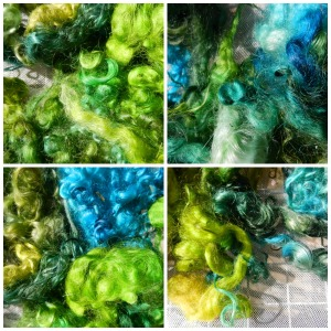 Blue and green dyed locks, and every color in between.