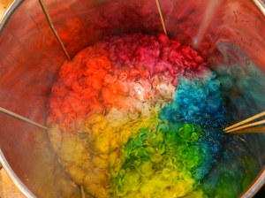 The perfect dye pot of the jerks dyeing next to us. (Yes, I'm just jealous.)