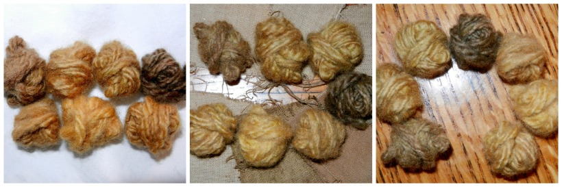 yellow yarns
