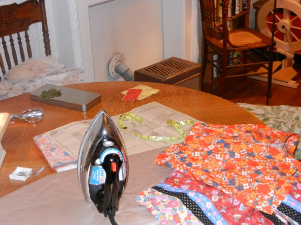 My living room, being lived in, with textiles all over the bloody place.