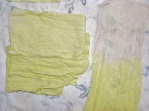 Cotton muslin, three shades and a dip dye.